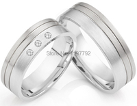 luxury custom size 5 to 13 solid Titanium Wedding Rings for him and her