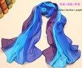 New Arrival ,Silk Scarf!! 2014 NEW Spring Silk scarf !! Fashion Women Rainbow Scarf Silk Scarf 160*50CM