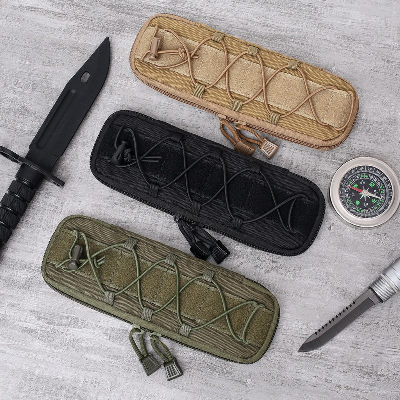 Military Molle Pouch Tactical Knife Pouches Small Waist Bag EDC Tool Hunting Bags Flashlight Holder Case Airsoft Knives Holster