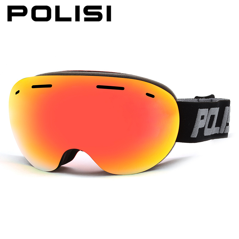 POLISI Winter Skiing Eyewear Double Layer Lens Anti-Fog Snowboard Skate Goggles Men Women UV400 Snow Ski Snowmobile Glasses polisi brand new designed anti fog cycling glasses sports eyewear polarized glasses bicycle goggles bike sunglasses 5 lenses