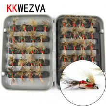 KKWEZVA 40pcs Fishing Lure Butter fly Insects Style Salmon Flies Trout Single Dry Fishing fly Lures Fishing Tackle 40pcs salmon single flies black yellow sea salmon trout fly fishing lures