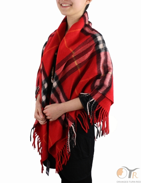 2ed37c693f661 100% wool scarf woman plaid large square scarves women shawl, warm autumn  and winter