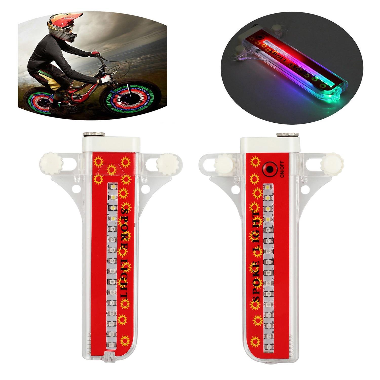 32 LED Patterns Cycling Bikes Bicycles Rainbow Wheel Signal Tire Spoke Light US!