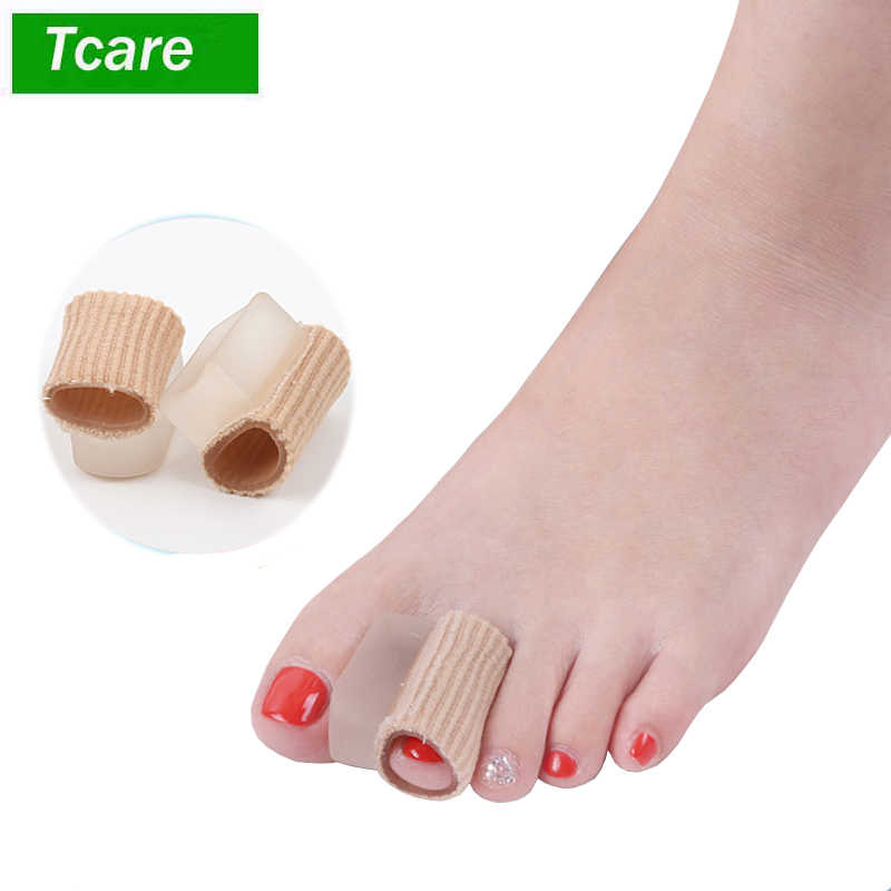 2Pcs/Lot  Hallux Valgus Hammertoe Straightener Toe Separators Bunion Corrector and Relief with Toe Spacers Gel Tube Sleeve