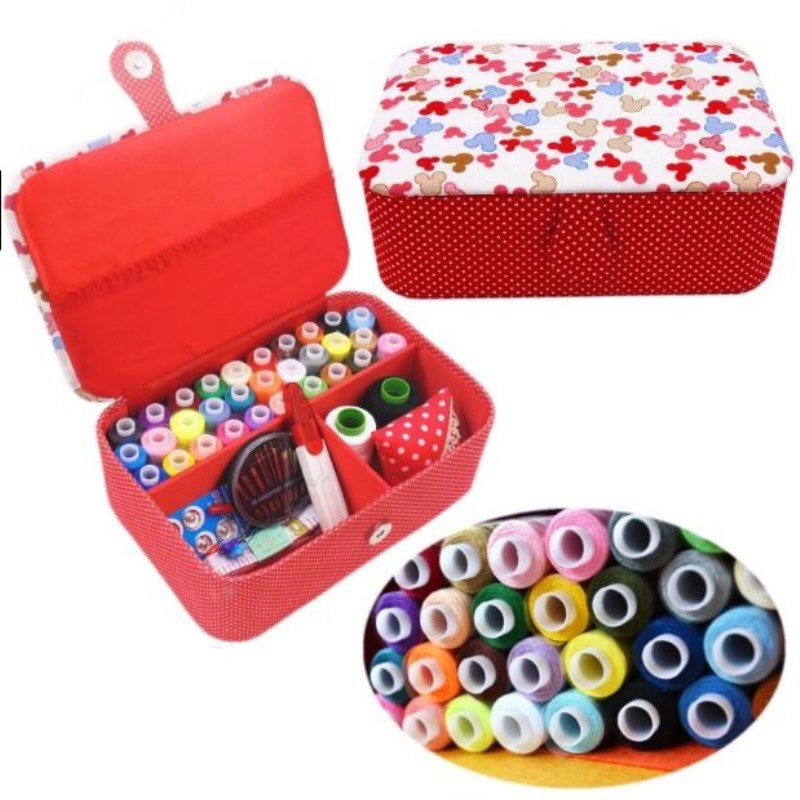 Multifunction Sewing Box Sewing Thread Stitches Needles Tool Set Cloth Buttons Craft Scissor Travel Sewing Kits Case Storage Box