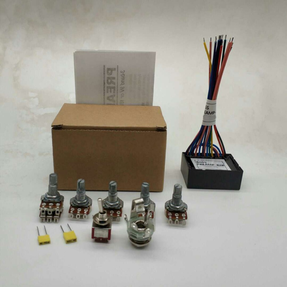 Deluxe Electric Bass Active Preamp Wiring Bass Guitar Parts High Quality