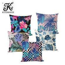 Tropical Plant Cushion Covers Palm Leaf, Green Leaf, Pineapple Cushion, Office Printed Decorative Pillowcase. palm leaf random tassel trim shorts