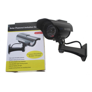 Image 5 - 2 pcs שמש Dummy CCTV מצלמה סימולציה מזויף אבטחת מצלמה שווא מצלמת סוללה מופעל חיצוני Bullet מעקב וידאו מצלמה