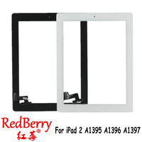 Redberry Touch Screen Glass Digitizer Replacement Home Button Adhesive For IPad 2 A1395 A1396 A1397 Assembly