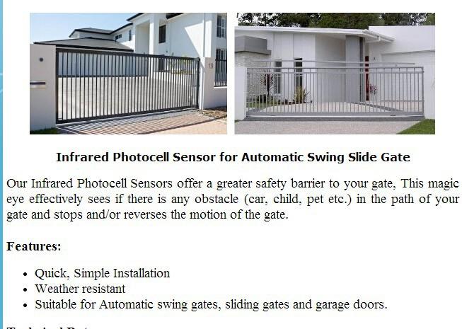 5 Sets Gate Opener Motor Photo Cell Infrared Sensor Photo Eye