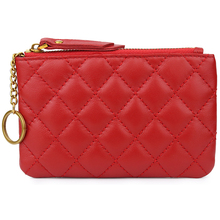 Premium Sheepskin Geometric Womens Coin Purse Hot Brand New Arrivals European And American Style Genuine Leather Women Wallets