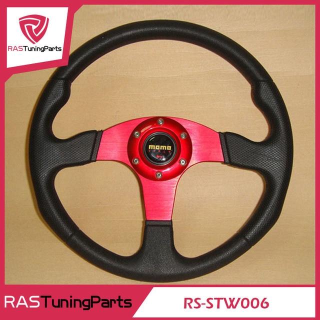 New MOMO Racing PU Steering Wheel With Horn Line  RS-STW006
