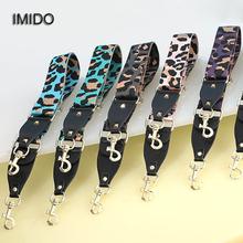 IMIDO marka Leopard szeroki kobiet wymiana pasy nylonowe na ramię na ramię uchwyty torby torebki akcesoria części do torby diy STP123 tanie tanio Other 92-138cm (adjustable)