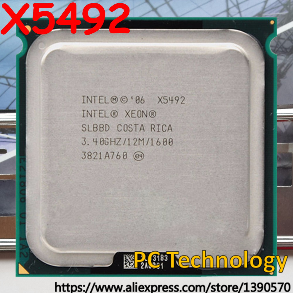 Original Intel Xeon X5492 processor 3 40GHz 12MB 1600MHz LGA771 Quad Core CPU Free shipping ship