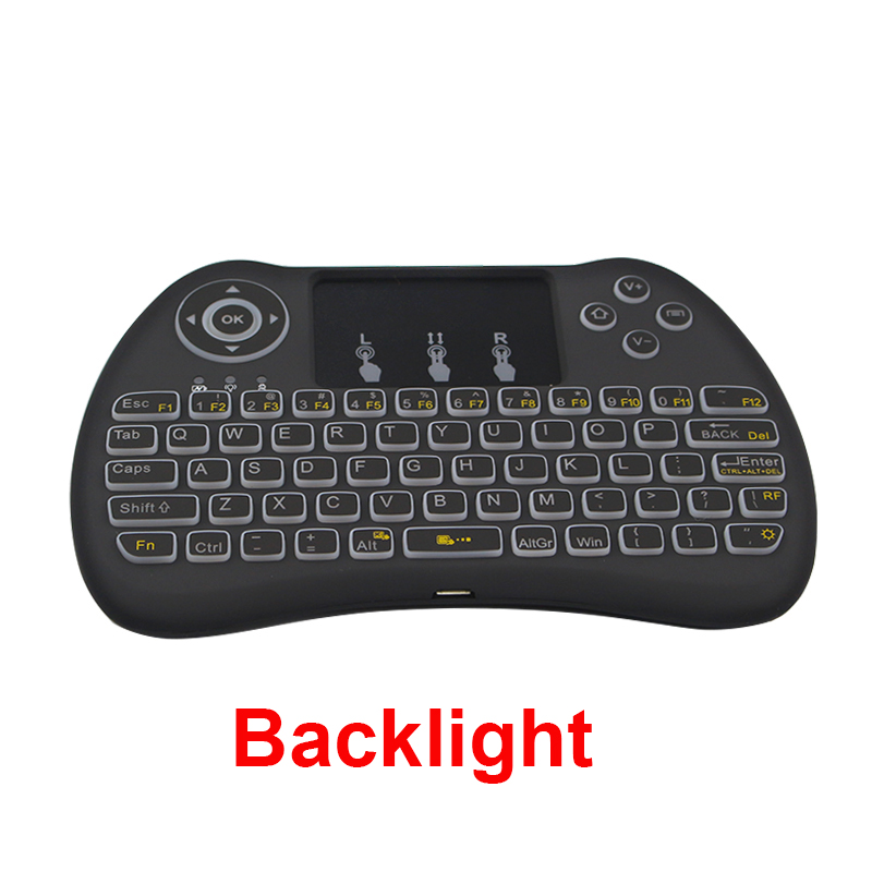 Backlit 2 4GHz Wireless Remote Controller Mini Keyboard Combo for Android TV Box Smart TV PC