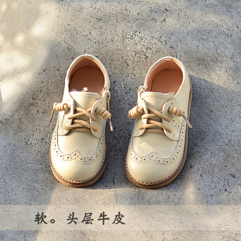 Girls Genuine Leather Shoes Child Sneakers High-quality Children Sneakers 2019 Spring Autumn Kids Boys School Shoes Baby