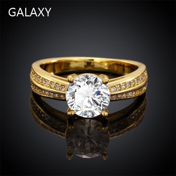 Online Get Cheap 24k Yellow Gold Engagement Rings Aliexpresscom