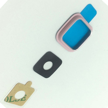 5pcs lot Original For Samsung Galaxy Note 4 Edge N915 Camera Glass Lens Cover And Frame