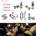 24pcs LED Canbus Interior Lights Kit Package Vanity Mirror Front Dome Glovebox Footwell Door Warning Puddle Rear Dome Trunk
