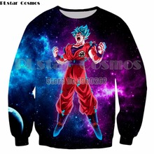 PLstar Cosmos 3D Cloth Dragon Ball Super Acme Superlative Ultra Instinct Silver White Saiyan Son Goku Hoodies Sweatshir