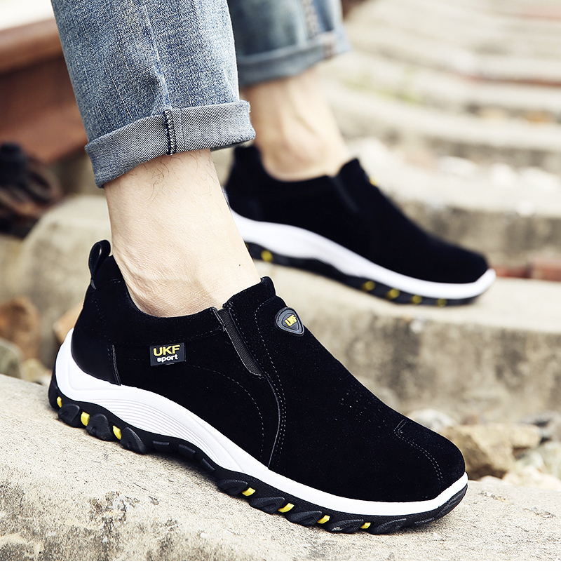 VESONAL Spring Summer Slip-On Out door Loafers Sneakers For Men Shoes Breathable Suede Male Footwear Walking comfortable