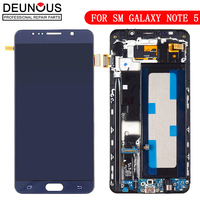 New TFT Display For Samsung Galaxy Note 5 LCD Digitizer Sensor With Frame Touch Screen For Samsung Note 5 N920f N920T LCD Screen