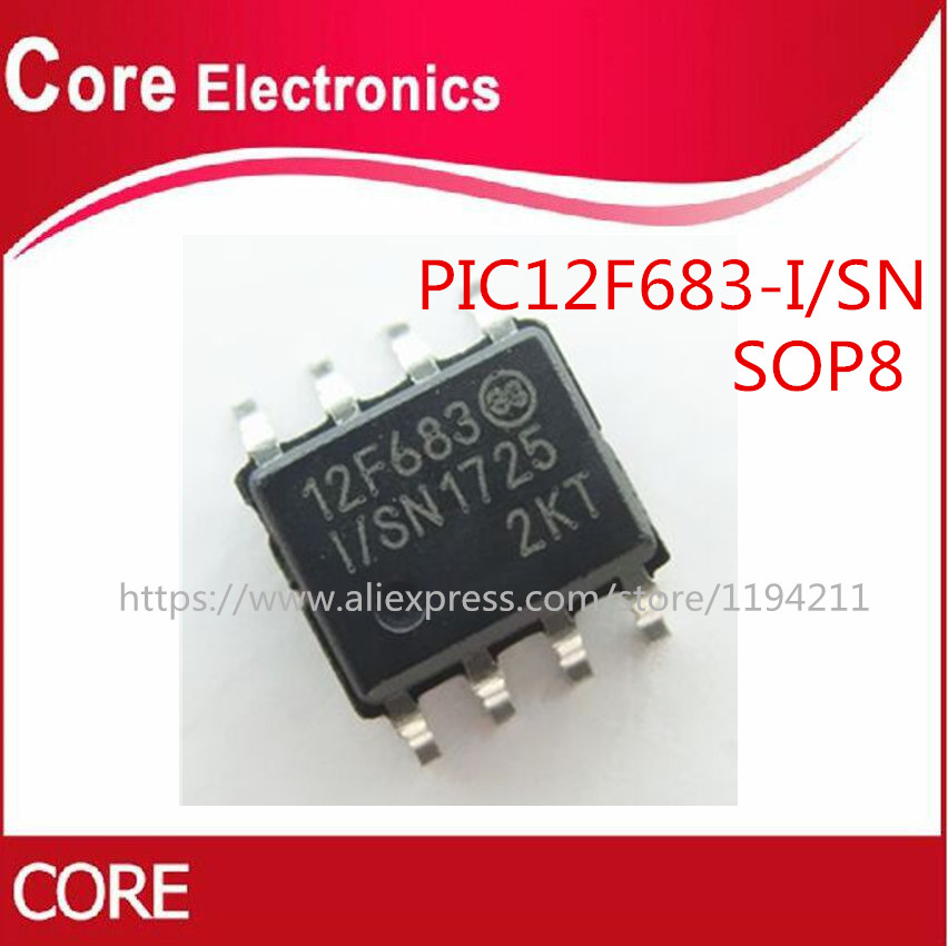 100pcs PIC12F683 I/SN PIC12F683 PIC12F683 I 12F683 SOP 8 Best quality-in Integrated Circuits from Electronic Components & Supplies    1