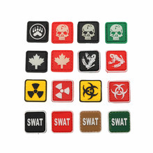 fee64db261bbf Personality Jewelry Resident Evil Series 3D Pvc Armband Backpack Hat  Clothing Decoration Military Tactical Badge Waterproof