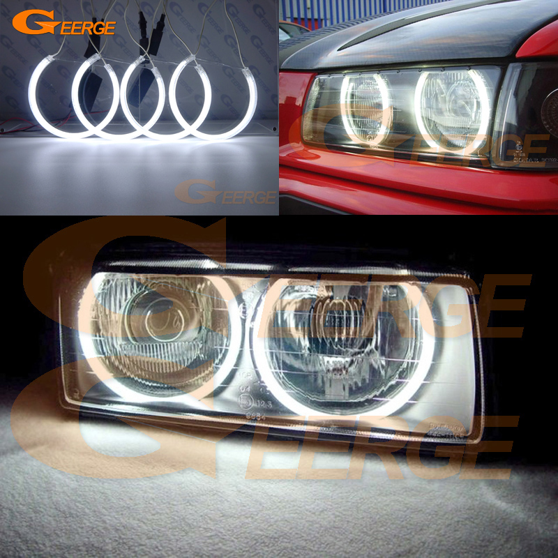 For BMW E36 3 Series with Euro headlights 1992-1998 Excellent angel eyes Ultra bright illumination CCFL Angel Eyes kit Halo Ring for bmw e39 520i 525i 528i 5 series 1997 2003 excellent ccfl angel eyes kit ultrabright illumination angel eyes halo ring