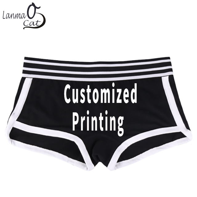 14a383c076d Lanmaocat Women Cotton Boyshorts Panties Women Custom Print Cotton Boxer  Shorts Personal Design Boxer Shorts XXL