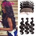 7A Malaysian Body Wave With Clousre Ear to Ear Lace Frontal Closure With Bundles Human Hair Malaysian Virgin Hair With Closure