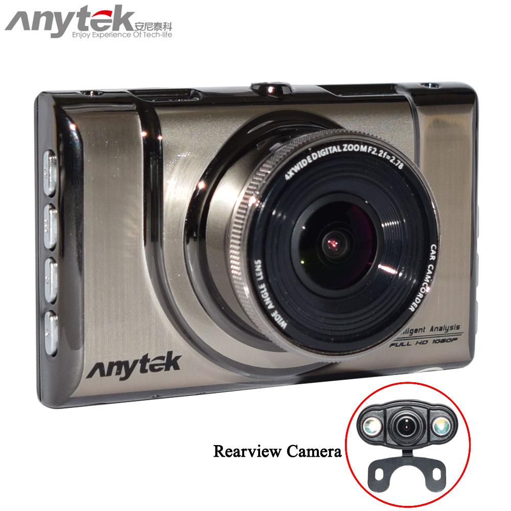 Original A100H Dual Cameras DVR with NTK96655 CPU 1080P with Rear View 720P Camera Car Video