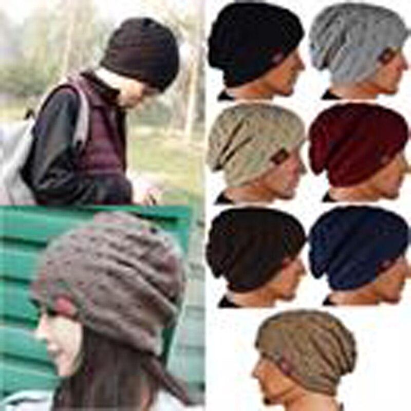 Women Knitted Crochet Hollow Beanie Winter Warm Hat Red Star Slouch Wooly Cap HATLZ0003