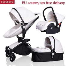 2019 hot sell baby strollers 3 in 1 baby stroller leather newborn baby pram gold black basis Free Ship USA free gifts free ship to eu usa