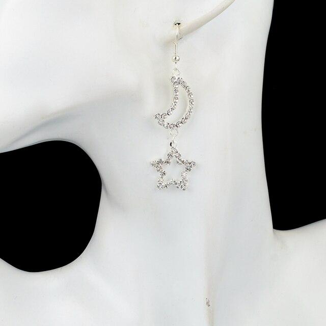 Длинные серебряные серьги toucheart для женщин Свадебные с кристаллами