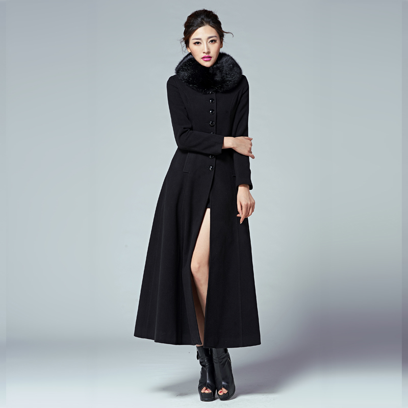 Aliexpress.com : Buy 2017 Womens Winter Wool Blend Long Sections ...