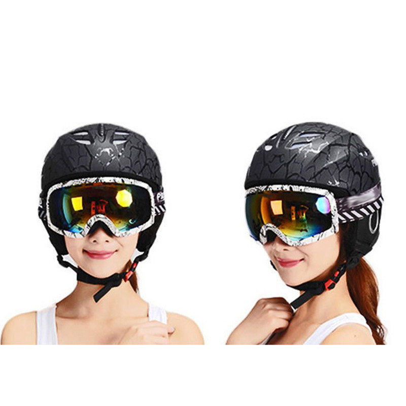 все цены на Ski Helmet Integrally-molded Snowboard helmet Men Women Skating Skateboard Skiing Helmet