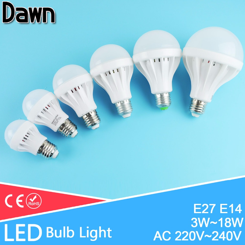 A++High Power LED Light Bulb E27 E14 SMD5730 3W 5W 12W 18W AC 220V 240V Cold Warm White Lamps light Lampara Bombilla Ampoule 5pcs e27 led bulb 2w 4w 6w vintage cold white warm white edison lamp g45 led filament decorative bulb ac 220v 240v