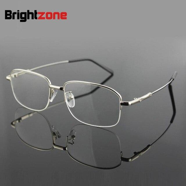 2208545370 Classic Half Rim Good Quality Memory Titanium Metal Alloy Brand Prescription  Spectacles Eyewear Optical Glasses Eyeglasses Frame