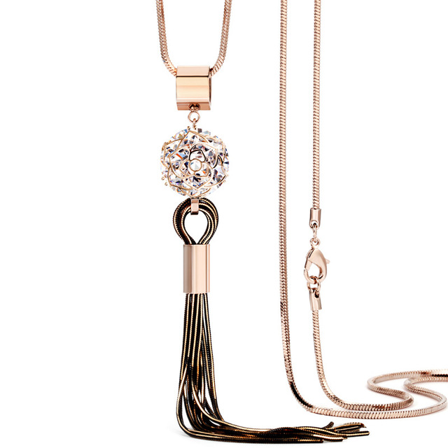 Dominated New Arrival Women Pendant Necklaces The Long Hot Sweater Chain All-mat