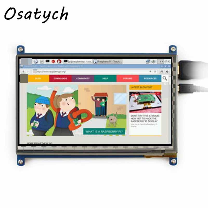Nouveau 7 pouces 800*480 pour Raspberry Pi 2 3 b + écran tactile HDMI LCD moniteur + étui