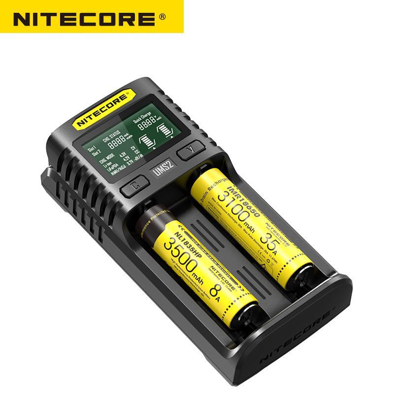 NITECORE UMS2 インテリジェント 2 スロット QC 高速充電電流マルチ互換 USB 充電器 -