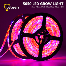 LED Grow light 1M 2M 3M 4M 5M Strip 5050 Flower Plant Phyto Growth lamps For Greenhouse Hydroponic Growing