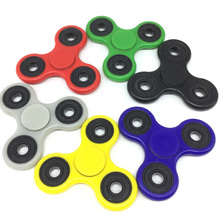 1PCS Tri-Spinner Plastic Professional Hand Spinner EDC Finger Spinner Nice Bearing Fidget Spinner Long Time Anti Stress Toys