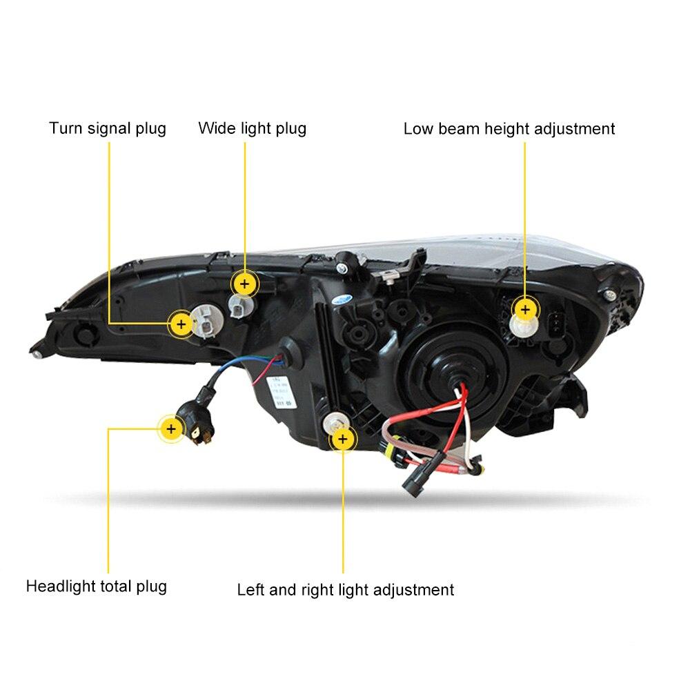 Pour 14 18 assemblage de phares GK5 Modification de voiture Guide de lumière locale LED phares au xénon de jour - 2