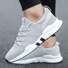Summer Brand Fashion Men Casual Shoes Light Breathable Mesh Sneakers Lace Up Gray White Black All Mens 2019 New