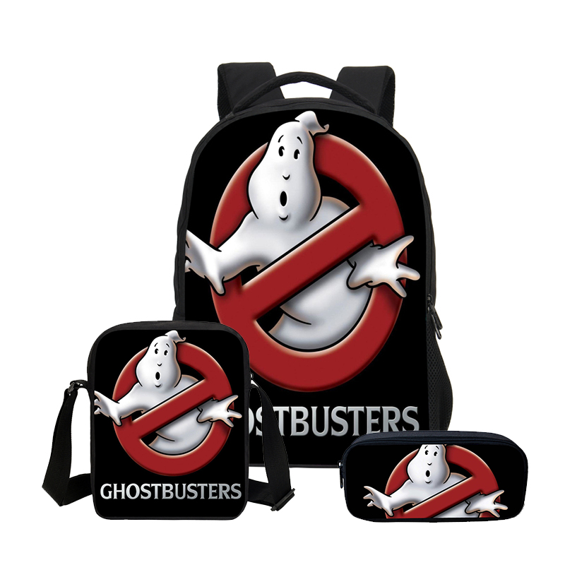 2019 Veevanv Ghostbusters Printing Men School Backpacks Fashion Boys 3 Pcs Set Laptop Shoulder Bags Teenager Bookbag New Daypack
