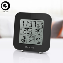 Digoo DG-TH3330 TH3330 Home Security Comfort 3 Channels Digital In&Outdoor Hygrometer Thermometer Weather Station Sensor Clock
