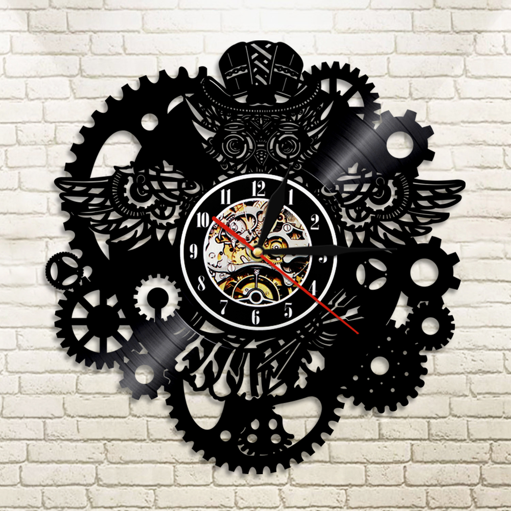 Buy steampunk wall clock and get free shipping on aliexpress amipublicfo Images