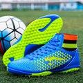 Adulto alta tornozelo botas crianças botas de futebol homens sapatos de futebol de futbol Novo superfly chuteiras de futebol botas Tamanho 33-44 Livre grátis